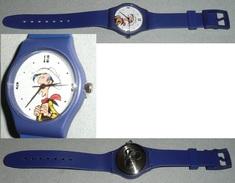 Montre Quartz BD Lucky Luke Bracelet Plastique Morris - Montres Publicitaires
