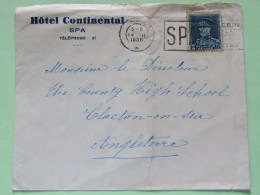 Belgium 1936 Cover Spa To England - King Albert I - 1931-1934 Kepi