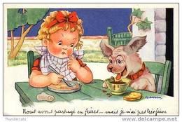 CPA ILLUSTRATEUR GOUGEON DESSIN ENFANT ENFANTS ** ARTIST SIGNED GOUGEON DRAWN CHILD CHILDREN CARD - Gougeon