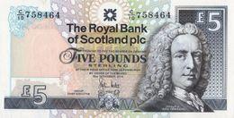 SCOTLAND 5 POUNDS 2010 P-352e UNC SIGN. HESTER [SQ352e] - [ 3] Scotland