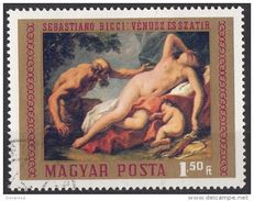 "Ungheria 1970 Sc. 2026 ""Venere E Satiro"" Quadro Dipinto Da S. Ricci Painting Barocco Mayar Posta Hungary - Mitologia"