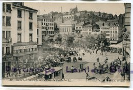 - 32- SAINT-ÉTIENNE - La Place Du Peuple, Tramway, Super Animation, écrite, 1925, TBE, Scans. - Saint Etienne
