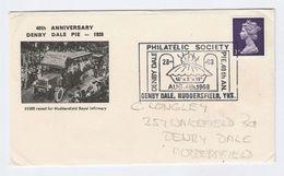 1968 Aniv DENBY DALE PIE HOSPITAL FUNDRAISER Huddersfield Health Medicine Stamp Cover Philatelic Society GB - Medicine