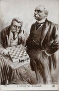 CPA échecs Chess Caricature Satirique Non Circulé - Schach