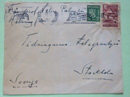Finland 1947 Cover Helsinki To Sweden - Lion Arms - Cathedral Porvoo - Finland