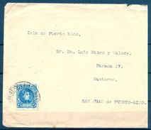 1927 , BARCELONA - SAN JUAN DE PUERTO RICO , SOBRE CIRCULADO , LLEGADA AL DORSO. - Cartas
