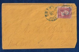 1862 US SC #64a Pigeon Blood Pink - On Cover - CHICAGO,ILLs Cancel - 1847-99 General Issues