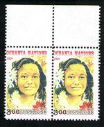 Tahiti Corner Pair With Selvedge Inscription. - New Zealand