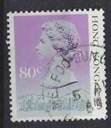Hong Kong 1987 Queen Elizabeth II  80c (o) - Hong Kong (...-1997)