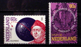 NETHERLANDS # 812-813.  Europa - Discovery Of America 500th Anniversary. MNH (**) - Period 1980-... (Beatrix)
