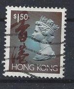 Hong Kong 1992 Queen Elizabeth II  $1.50 (o) - Hong Kong (...-1997)