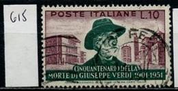 Italie 1951 Y&T N°615 Oblitéré - Used - Gestempelt - 1946-60: Oblitérés