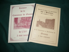 HISTOIRE DE LA COMMUNE DE GENSAC PAR MAX BONAVAL ( TOMES 1 ET 2 ) - Aquitaine