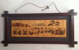 Japanese Wooden Picture - Asian Art
