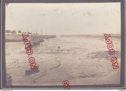 Au Plus Rapide Ouistreham Calvados Début Années 20 Le Port à Marée Basse Très Beau Format Très Bon état - Plaatsen