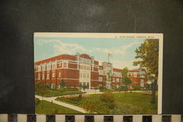CP, Michigan Pontiac Pontiac High School Looking North - Etats-Unis