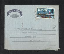 Great Britain England 1967 Air Mail Postal Used Air Letter Aerogramme Cover London To Pakistan Flag Ship - Stamped Stationery, Airletters & Aerogrammes