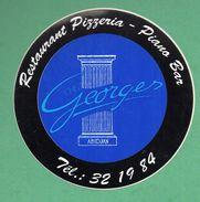 CHEZ GEORGES ABIDJAN - RESTAURANT PIZZERIA PIANO BAR   /  AUTOCOLLANT - Autocollants