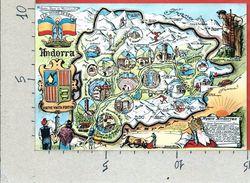 CARTOLINA NV ANDORRA - CARTINA TURISTICA - Plan De L'Andorre - 10 X 15 - Andorra