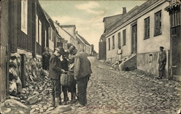 Cp Svenskt Folklif, Fiskläge, God Fangst, Straßenpartie In Der Ortschaft - Suède