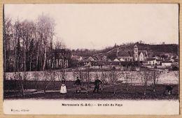 X91098 Peu Commun Photo-émail BREGER MARCOUSSIS Essonne Un Coin Du PAYS 1903 à DUCROS Rue N.D De Nazareth Paris-BRYON - France