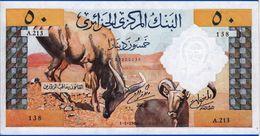 AFRIQUE ALGERIE 50 DINARS BANQUE CENTRALE NEUF SERIE A. 213-138-1-1-1964-SUR MON SITE Serbon63 DES MILLIERS D'OBJETS - Algeria