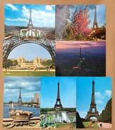LOT DE 7- CPSM COULEURS LA TOUR EIFFEL - Tour Eiffel