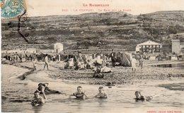 CPA   11   LA FRANQUI---LE BAIN SUR LA PLAGE---ANIMEE - Autres Communes
