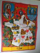 Calendrier Serviette Tissus Torchon +ou- 1980 Saint Vincent Patron Vignerons Vin Champagne De France Vignes - Paper Napkins (decorated)