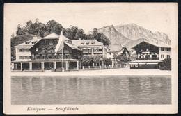 A5536 - Alte Ansichtskarte - Königsee Schönau - Schiffslände - Lehrburger - Berchtesgaden