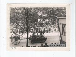 BORDEAUX (GIRONDE) PHOTO ANCIENNE DEFILE AVEC CHAR ET CANON (BELLE ANIMATION) PHOTO PUYTORAC BORDEAUX - Guerra, Militari