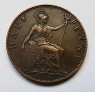 PIECE - ROYAUME UNI - HALF PENNY - 1896 - VICTORIA - 1816-1901 : Frappes XIX° S.