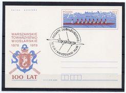 Polen, 1978, 100 Jahre Rudern, Ganzsachen-Karte, Sonderstempel - Enteros Postales