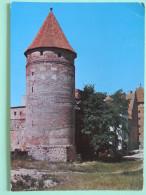 "Poland 1999 Postcard """"Bytow Tower Castle"""" To England - Country Estates Bronowicach And Oblegorku - Poland"