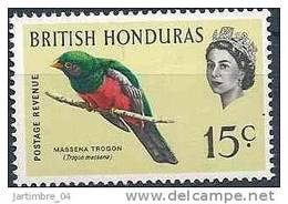 1962-67 HONDURAS Britannique 176** Oiseau, Issu De Série - British Honduras (...-1970)