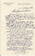 LETTRE + ENVELOPPE ASSEMBLEE CONSULTATIVE ALGER .  39/45 - Documenti Storici