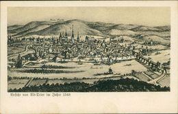 AK Trier, Ansicht Von Alt-Trier Im Jahre 1548, Ca. 1910er Jahre (13777) - Trier