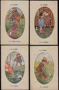 6 X JEAN KITT - HUNTING - LA CHASSE - Set Of 6 Vintage Postcards Pre -1930 - DE JACHT - - Hunting