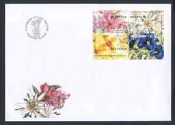 2001 Joint Issue / Gemeinschaftsausgabe - Schweiz - Singapore : Flowers / Blumen - Gezamelijke Uitgaven