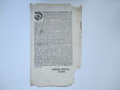 Dekret / Decretum / Verordnung. Hochfürstl Wirzburg 1740 Würzburg. Meinaid / Soldaten Diener Und Beamte. Gesetzestext - Gesetze & Erlasse