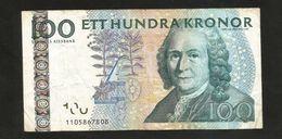 Bank Of SWEDEN - 100 Kronor - Carl Von Linne - Svezia