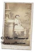 FLETRE 1863 - UN ENFANT EN ROBE - NORD - CDV PHOTO - Personnes Anonymes