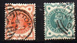 Col 4/ Grande Bretagne N° 91 & 92 Oblitéré Cote Yvert 2,50€ - Used Stamps