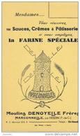 BUVARD FARINE - Moulins DENOYELLE FRERES  - MARCONNELLE PAR HESDIN (Pas De Calais) - Food
