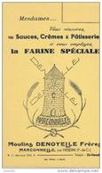 BUVARD FARINE - Moulins DENOYELLE FRERES  - MARCONNELLE PAR HESDIN (Pas De Calais) - Lebensmittel