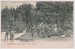 Singapore New Guinea - Native Groupe - 1908 - Singapore