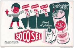 Buvard Sel SOCOSEL - Nancy - Buvards, Protège-cahiers Illustrés