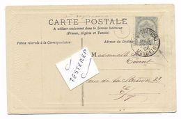 GAND (STATION ) MANDATS  4 AOUT 1906  Op Fantasiekaart - 1893-1900 Fine Barbe