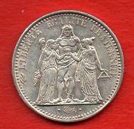 10 Francs Hercule  Argent 25 Gr - France