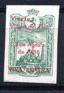 Viñeta  Nº 7s   Zaragoza. - Verschlussmarken Bürgerkrieg